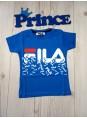 Футболка Fila для мальчика синего цвета