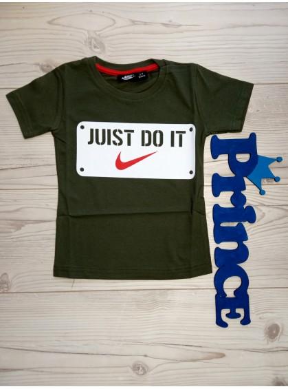 Футболка Nike Juist do it для мальчика цвета хаки