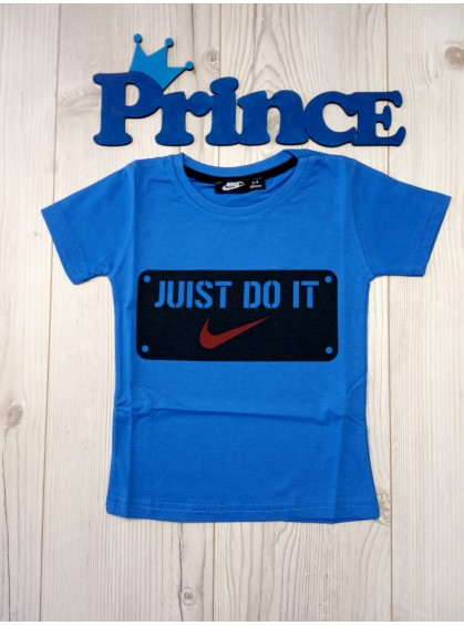 Футболка Nike Juist do it для мальчика синего цвета