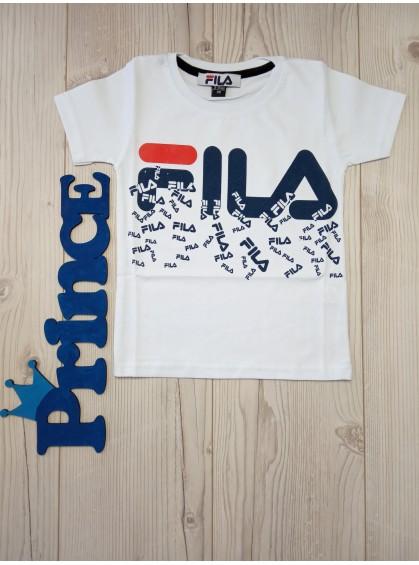 Футболка Fila для мальчика белого цвета