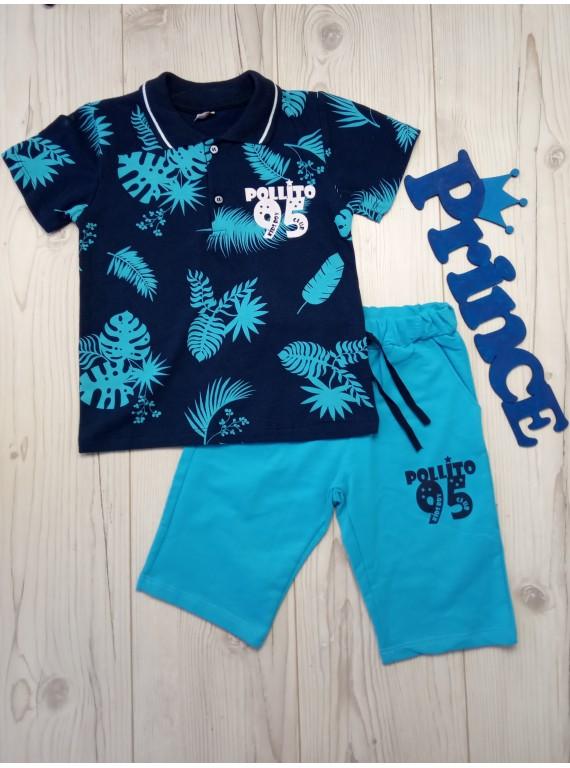 Летний комплект для мальчика футболка поло с шортами
