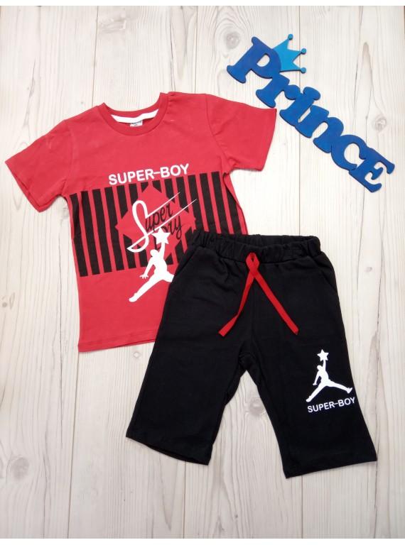 Летний костюм для мальчика модная футболка с шортами