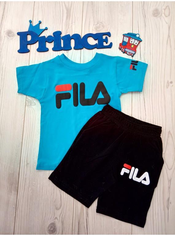 Модный летний костюм Fila для мальчика футболка с шортами