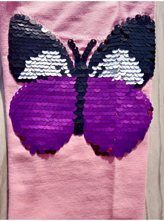 Летние бриджи для девочки принт Бабочка