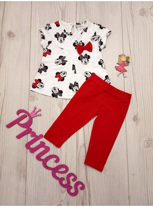 Летний красивый костюм для девочки футболка с бриджами