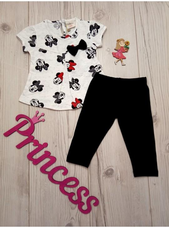 Летний комплект для девочки футболка с бриджами
