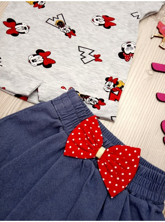 Нарядный детский костюм для девочки футболка с юбкой
