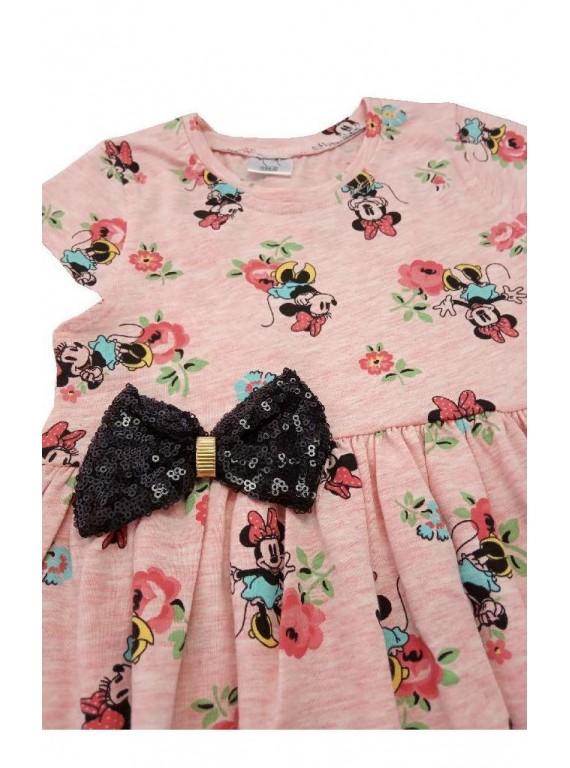 Красивое платье для девочки с бантом из пайеток
