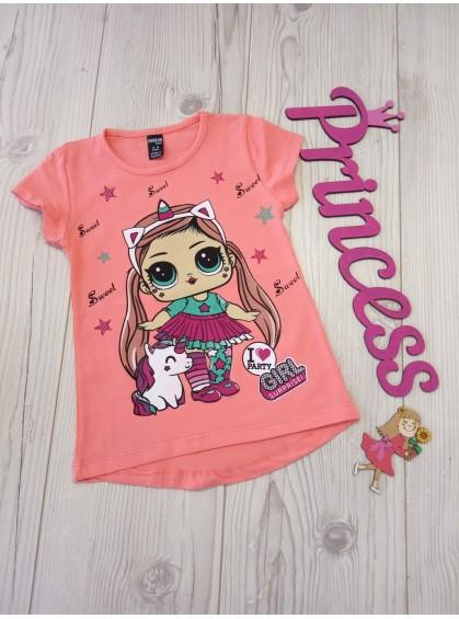 Модная футболка с принтом для девочки LoL