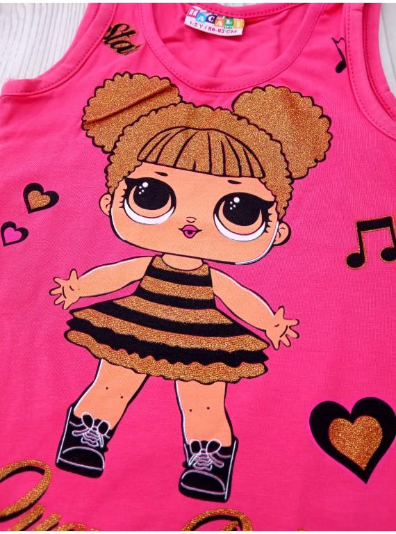 Модный комплект для девочки майка LOL и шорты