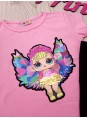 Летний костюм LOL для девочки футболка с бриджами