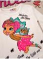 Модный детский реглан Фея для девочки белого цвета