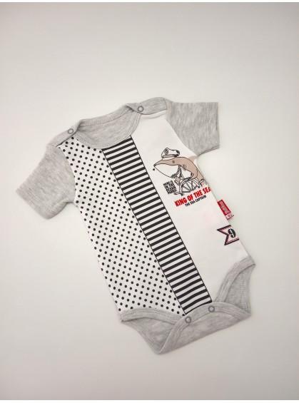 Боди для новорожденных акула