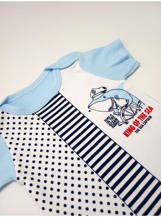 Бодик для новорожденных акула