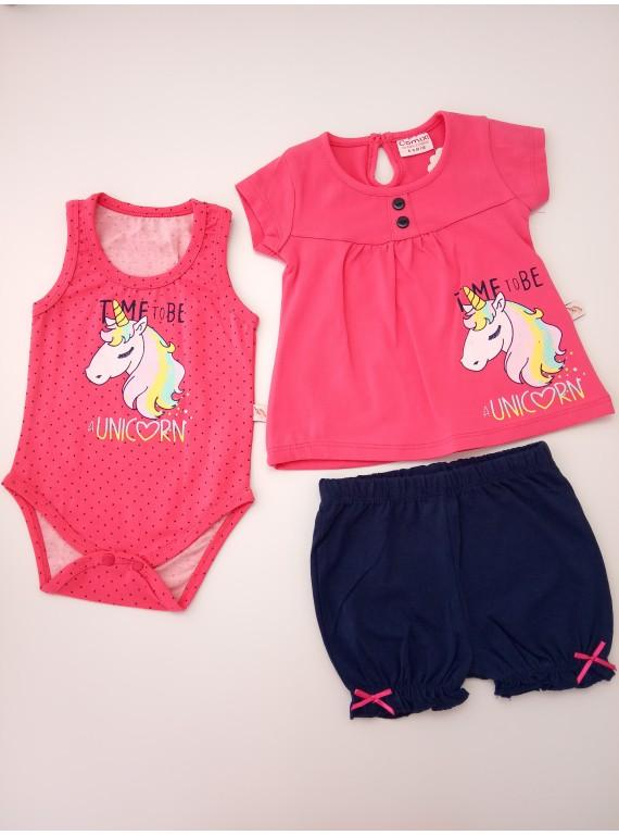 Комплект для новорожденных боди, туника и шорты