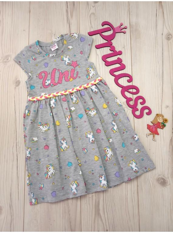 Красивое платье с поясом для девочки