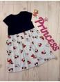 Детское нарядное платье для девочки с бантом из пайеток