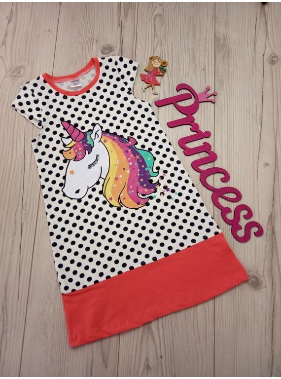 Детское нарядное платье для девочки с красивым принтом
