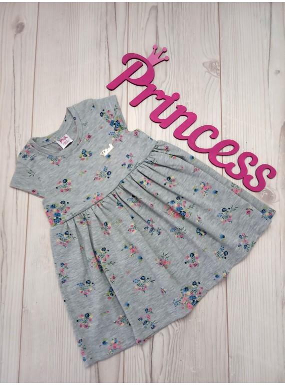 Детское нарядное платье для девочки с рисунком цветы
