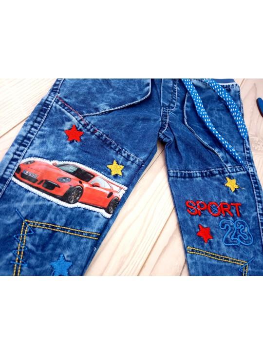 Детские джинсы на мальчика пояс на резинке