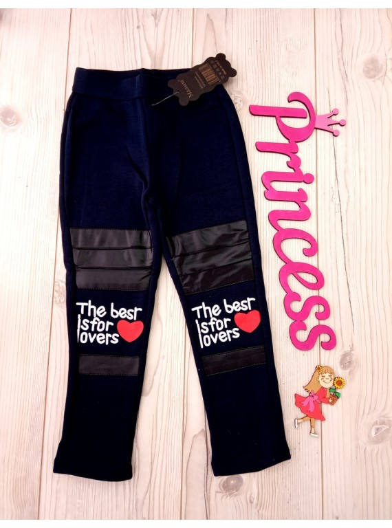 Для девочки модные детские лосины на флисе