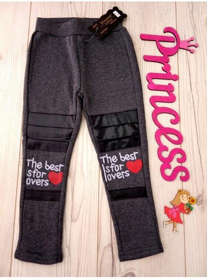 Для девочки на флисе модные детские лосины