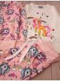 Для девочки детский костюм тройка рисунок единорог