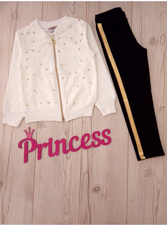 Для девочки детский костюм тройка с бусинками