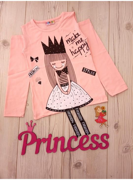 Реглан для девочки принцесса fashion