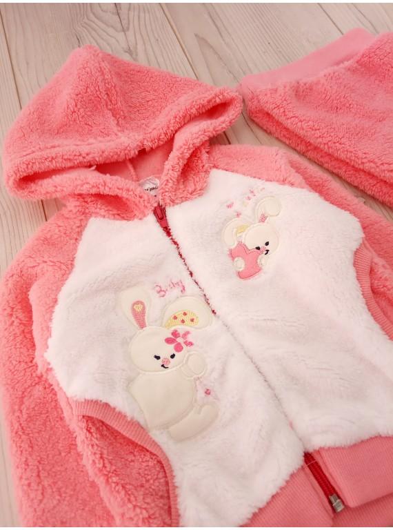 Для новорожденного махровый костюмчик с капюшоном