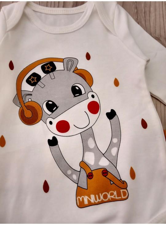 Комплект для новорожденных боди, штаны и шапочка