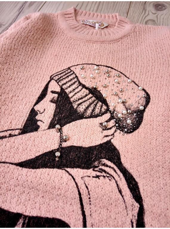 Тёплая модная кофта для девочки